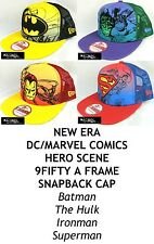 NEW ERA DC/MARVEL COMICS HERO SCENE 9FIFTY A FRAME SNAPBACK CAP - ASSORTED