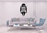 Banksy Laughing Now Ape Monkey Inspired Design wall Art Decal Sticker Vinyl