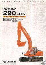 Equipment Brochure - Daewoo - Solar 290 Lc-V Hydraulic Excavator - 1999 (E1844)