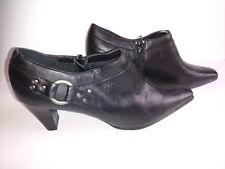 098866ea8cc90 Liz Claiborne ANIKA Womens Size 10 M Ankle Boots Side Zip Black Booties  Pumps