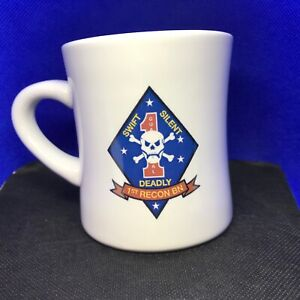 Victory Mug, US Marine Corps 1ST RECON BN Battalion Swift Silent Deadly