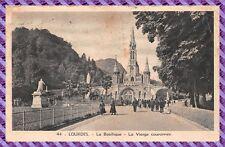 Carte Postale- LOURDES - la basilique - la vierge couronnée