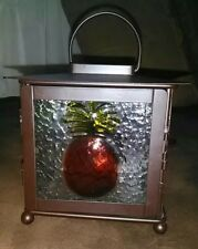 Candle Holder~Metal & Glass~Pineapple On Glass *Brand New!* Hanging or Tabletop
