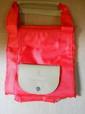 New PartyLite Red Folding Zippered Tote Bag