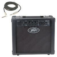 "Peavey Solo Trans Tube 8"" Combo Amp 12W Guitar Practice Amplifier W/ 1/4"" Cable"