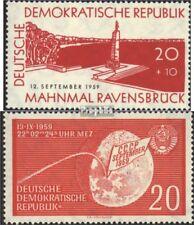 DDR 720,721 postfris 1959 Speciale postzegels