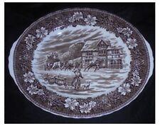 Oval Platter Coaching Taverns 1928 Royal Tudor Ware Staffordshire ~ 36cms brown