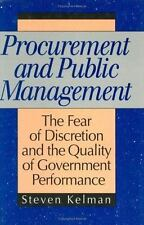 Procurement and Public Management: The Fear of Discretion and the Qual-ExLibrary