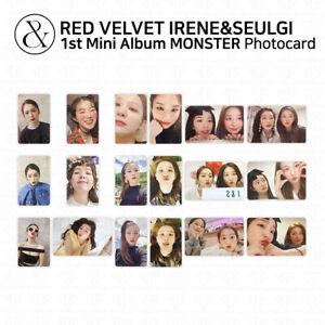 RED VELVET Irene & Seulgi 1st Mini Album Monster Photocard Postcard KPOP K-POP