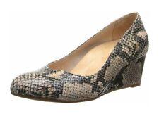 Vionic Orthaheel Womens Antonia Natural Snake Printed Leather Wedge Heels Size 7