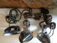 lot of 3 vintage irons for parts or repair 4 29