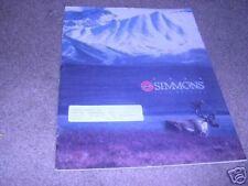 1989 SIMMONS  GUN SCOPE etc catalog