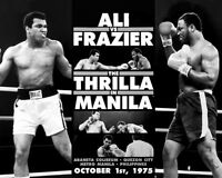 1975 Heavyweight Boxers JOE FRAZIER vs MUHAMMAD ALI Glossy 8x10 Photo Poster