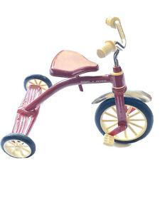 """Vintage Mini Red Radio Flyer Display Tricycle 12"""" Toy"""