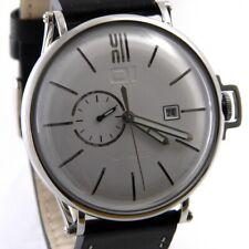 The One 1HE ONE A104L2 Herren Uhr Automatik Miyota Leder schwarz Silber > > NEU