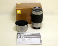 Nikon AF Nikkor 70-300mm f4-5.6 G Lens for Nikon DSLR Cameras - Silver