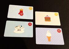 🇨🇦CANADA 🇨🇦 2016  MCDONALDS GIFT CARD ----- SET OF 4 PCS. ----- NEW