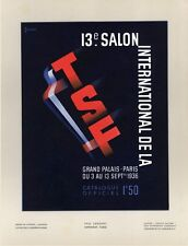 13e SALON INTERNATIONAL DE LA TSF 1936 Tirage original entoilé Jean LACHAUX