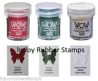 Wow Embossing Powder Christmas Colors Primary Apple Red, Evergreen, Bright White