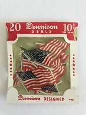 Vintage July 4Th Patriotic Dennison 48 Star Flag Seals In Original Package!
