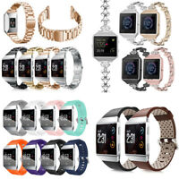For Fitbit Ionic Smart Watch Band Strap Leather/ Silicone /Stainless Steel Band