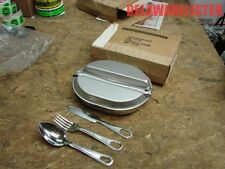 *US Military Army Complete Mess Kit Dish w/Utensils Fork/Knife & Spoon (New) MIB