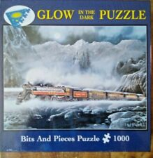 Bits and Pieces Glow In The Dark Train Puzzle 1000 Pc #5275 Alberta Bound NEW