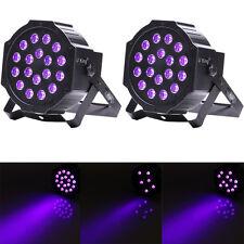 2PCS 18x LED Black Light DMX Par Can Stage Light Disco Club DJ Party Up-lighting
