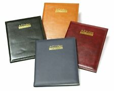Executive Large A-Z Index Leather Cover Padded Address Book Assorted Colour