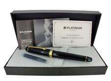PLATINUM #3776 CENTURY LAUREL GREEN FOUNTAIN PEN 14K F NIB NEW IN BOX NO RESERVE