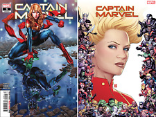 (2019) CAPTAIN MARVEL #9 + 80TH ANNIVERSARY FRAME VARIANT COVER!