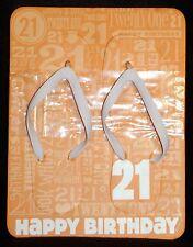 Hallmark Women's Flip Flops - HAPPY BIRTHDAY 21! Size S (6/7) NWT
