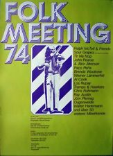 FOLK MEETING - 1974 - Konzertplakat - Ralph Mc Tell - Ougenweide - Poster