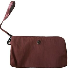 LULULEMON Now and Always Pouch Bag Dark Terracotta Clutch Water Repellent Yoga