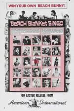 BEACH BLANKET BINGO Movie POSTER 27x40 B Frankie Avalon Annette Funicello Linda