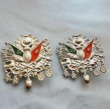 Silver Ottoman flag badge/brooch