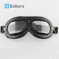 WWII Raf Vintage Aviator Pilot Bike Motorcycle Cruiser Scooter Goggle Clear Lens