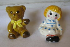 Vintage Weiss Avon Raggedy Ann and Teddy Bear Set of Salt & Pepper Shakers