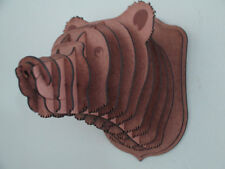 Large Wood Bear Head Wall Trophy *** FREE U.S. Shipping Included***