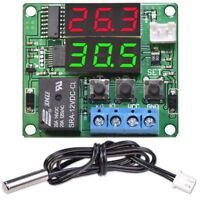 Digital Thermostat 12V DC Einstellbar Temperaturregler W1215 Schalter mit Probe