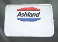 "ASHLAND EMBROIDERED SEW ON PATCH OIL GAS COMPANY ADVERTISING UNIFORM 4"" x 2 3/4"""