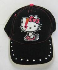 Chapeaux noirs Hello Kitty pour fille de 2 à 16 ans