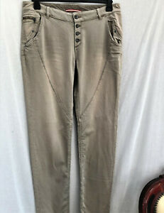 WOMENS Easy-fit Esprit Distressed 5 pocket Fly-Buttons Chinos-Top Stitch Detail
