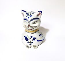 """Cute Vintage / Antique Qajar Pottery Cat Figurine, Early 20th C. Persian 5"""""""
