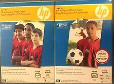 HP 2 X 100 (200) Glossy Brillante 4x6 Injet Photo Sheets 10.5ml New Sealed Paper