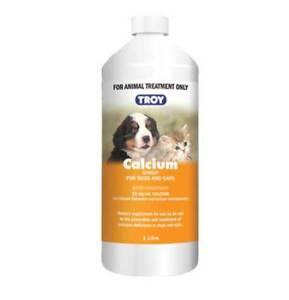 Troy Calcium Syrup 1 Litre Oral Calcium Supplement for Dogs & Cats