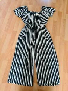 BNWT girls black and white cropped jumpsuit from New Look age 14