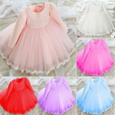 Baby Flower Lace Bridesmaid Girls Dresses Wedding Party Princess Dresses LOT
