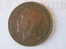 1920 ONE 1 Lg PENNY! Vintage GREAT BRITAIN coin: copper composition     IS334