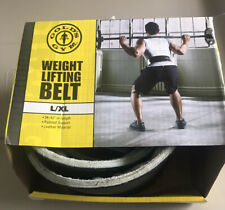 """GOLD's GYM Leather Belt Strength Weight Power Lifting L/XL 34-42"""" Loc#EB73"""